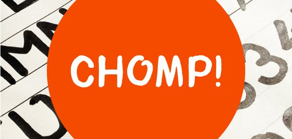 tipografias o fuentes gratis Chomp Typeface