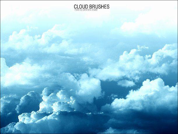 brochas de nubes para photoshop