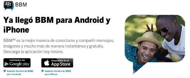 bbm para android y ios