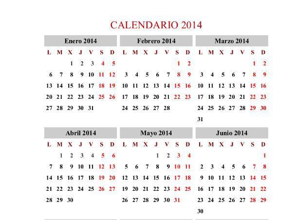 calendario anual para imprimir
