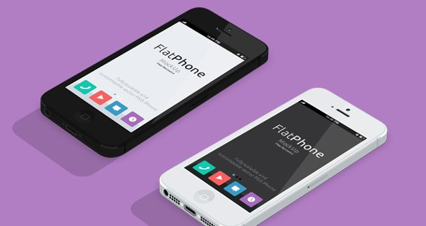 iPhone 5 en psd