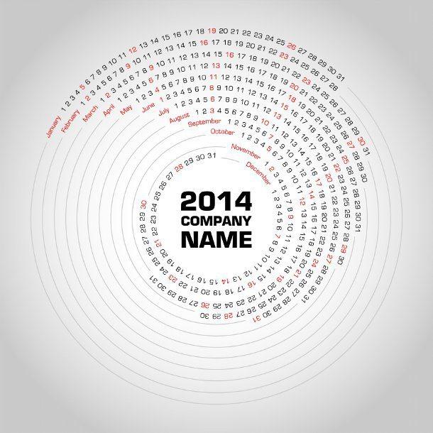 calendario circular de 2014