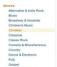Generos musicales en Amazon