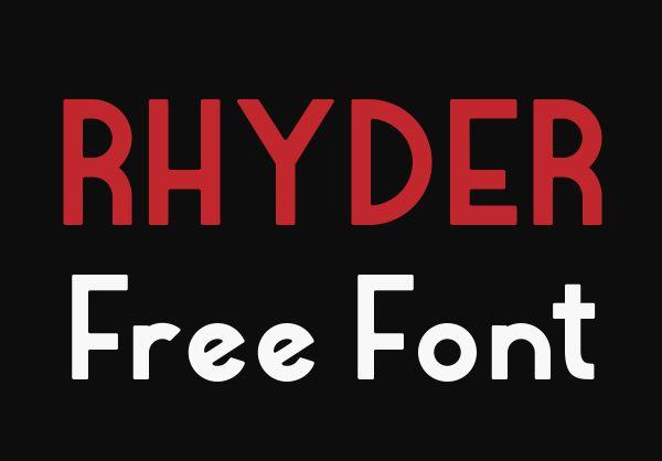 fuente gratis Rhyder