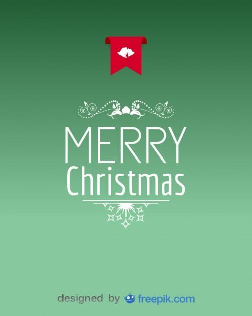 vector navideño verde de merry christmas
