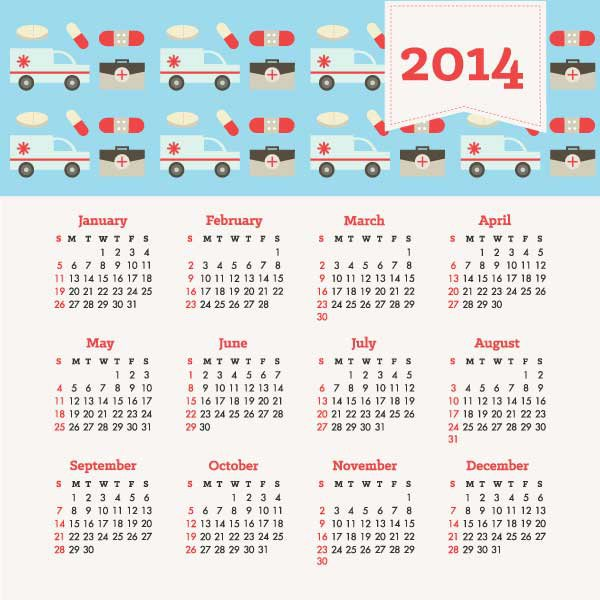 calendario año 2014 medico