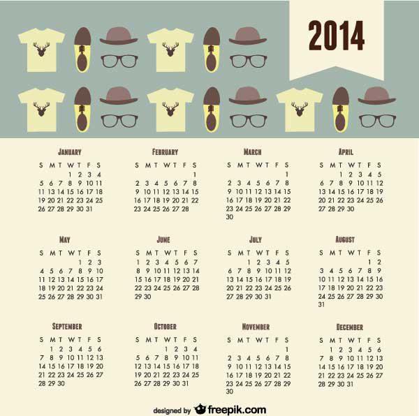 calendario 2014 para el trabajador