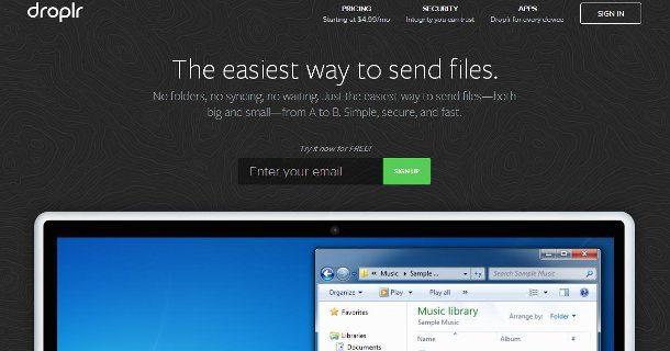 droplr almacenar y compartir archivos en linea