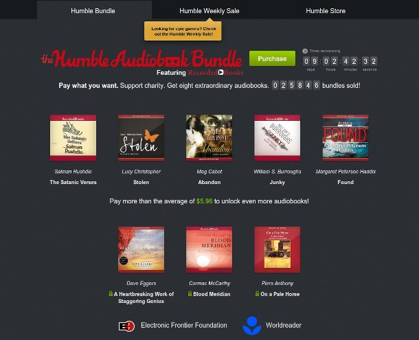 humble bundle audiobooks