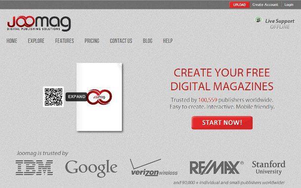 Joomag crear una revista digital en linea