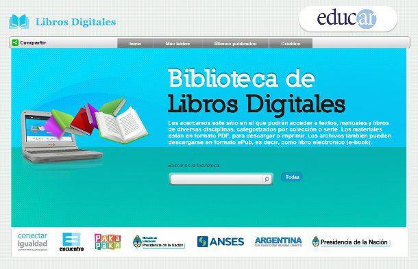 Biblioteca de libros digitales