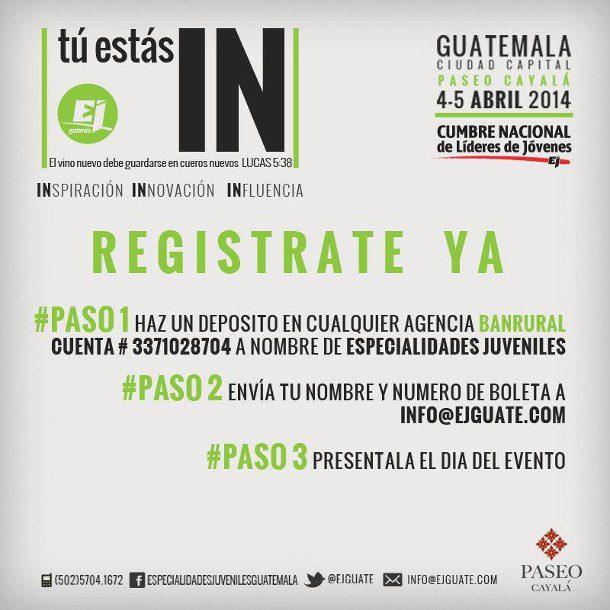 cumbre nacional para lideres de jóvenes Guatemala 2014