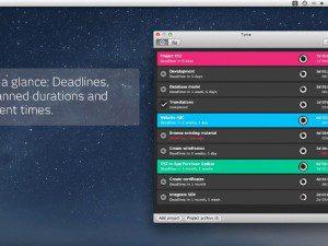 Tyme potente gestor de proyectos para mac