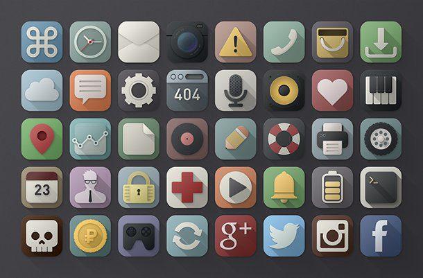 40 iconos PSD para descargar