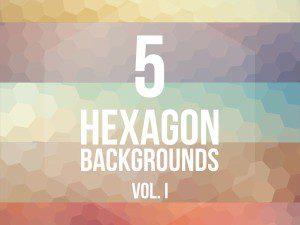 Primer paquete de fondos con hexagonos