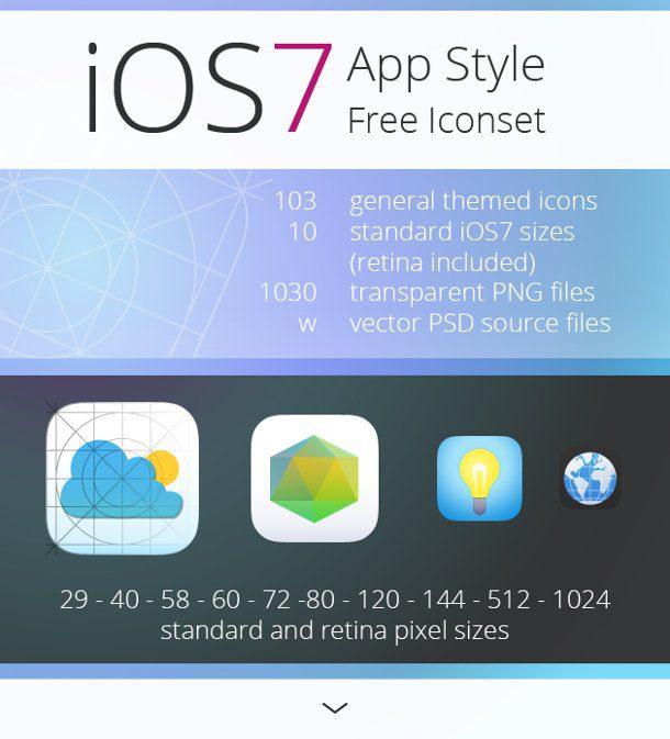Iconos de iOS7