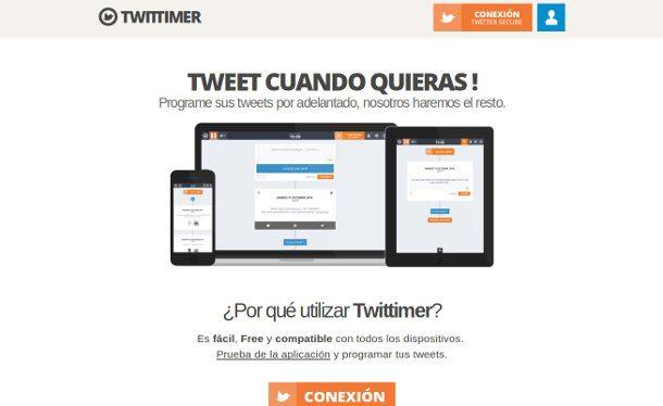 twittimer programar tus tweets