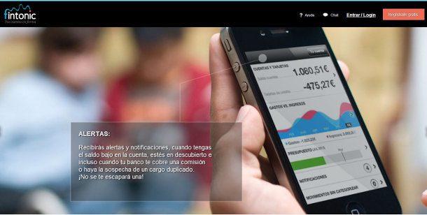 Fintonic organizar tus cuentas y gastos personales