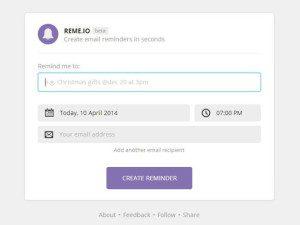 Remeio - recordatorios a tu correo electrónico