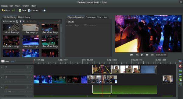 Editor de vídeo para Linux