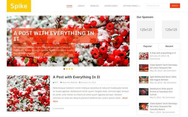 Theme para wordpress Spike