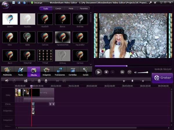 editor de videos con efectos
