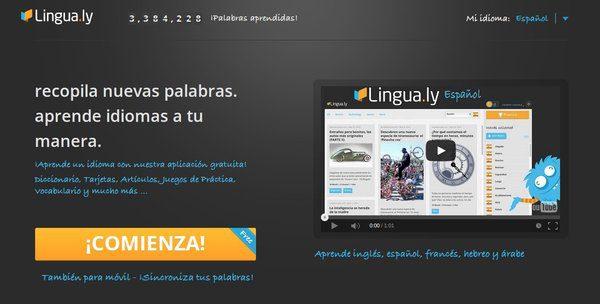 lingua.ly aprender nuevo idioma palabra por palabra