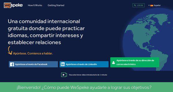 WeSpeke aprender un nuevo idioma