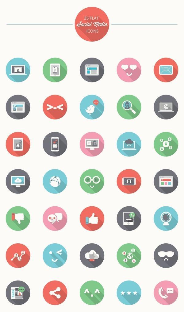 iconos circulares en alta resolución