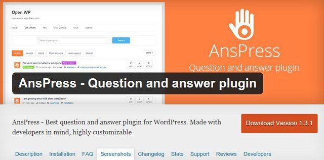AnsPress crear preguntas y respuestas wordpress