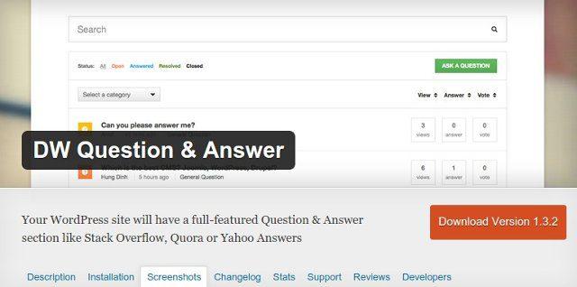Preguntas y respuestas con wordpress