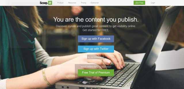 crear y configurar una cuenta de scoop.it