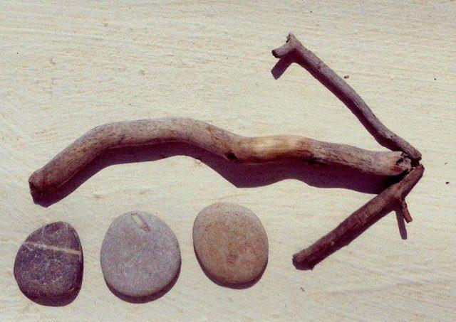 Juegos al aire libre - Búsqueda del tesoro con rocas