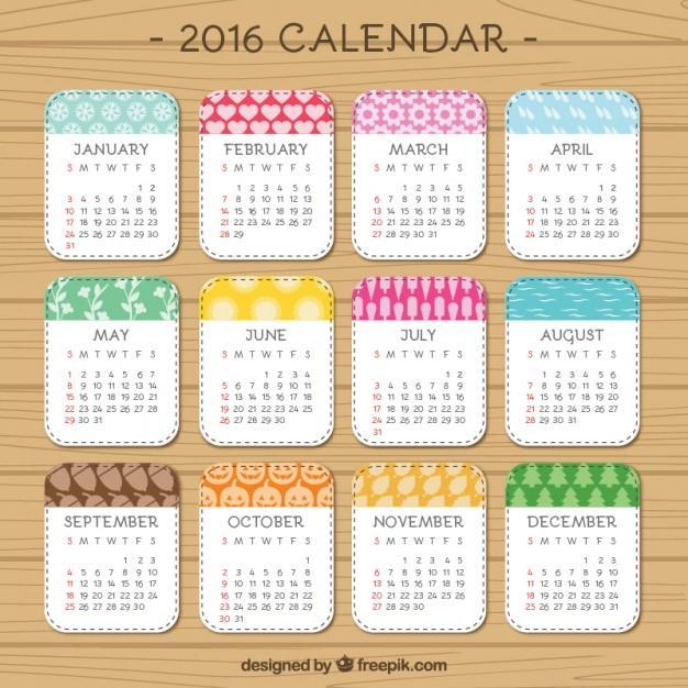 calendario 2016 para imprimir todo en uno