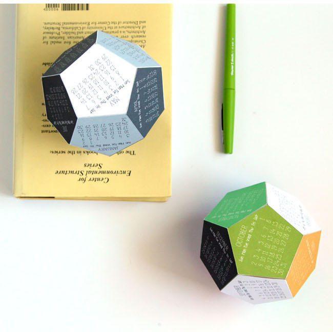 Calendario 3D para imprimir en casa