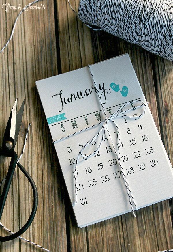 Compacto calendario 2016 para imprimir