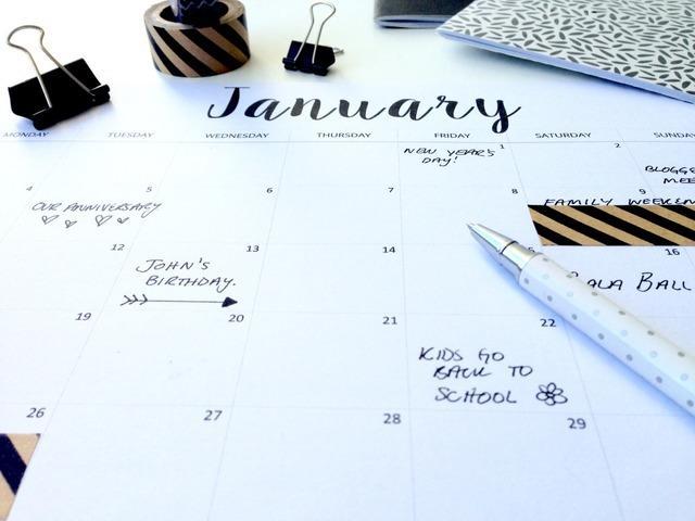 Elegante calendario 2016 para tu escritorio
