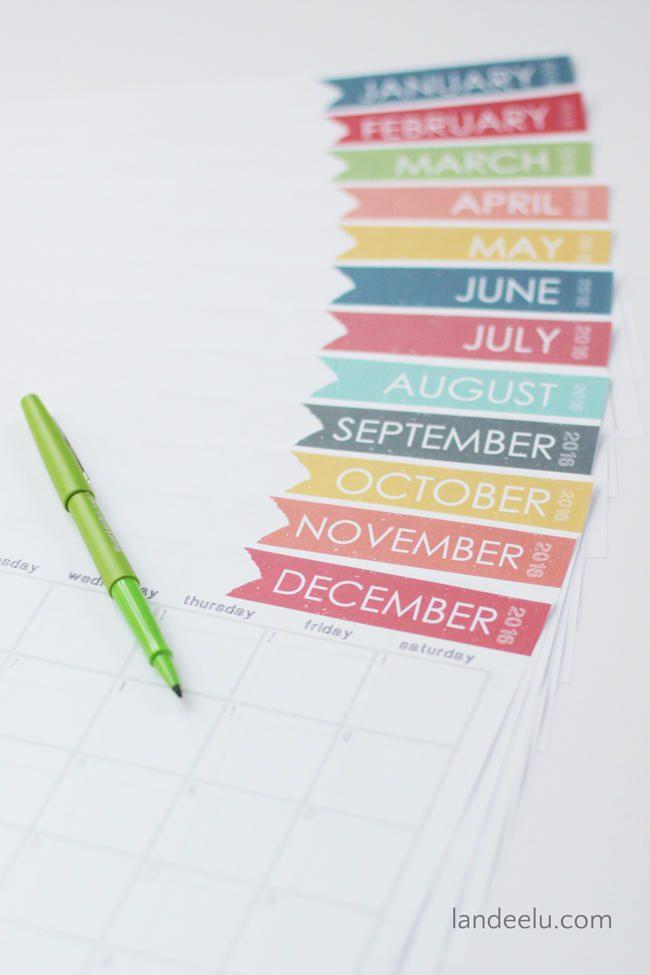 Calendario de 2016 perfecto para estudiantes