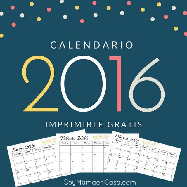Calendario con dibujo de flor para 2016