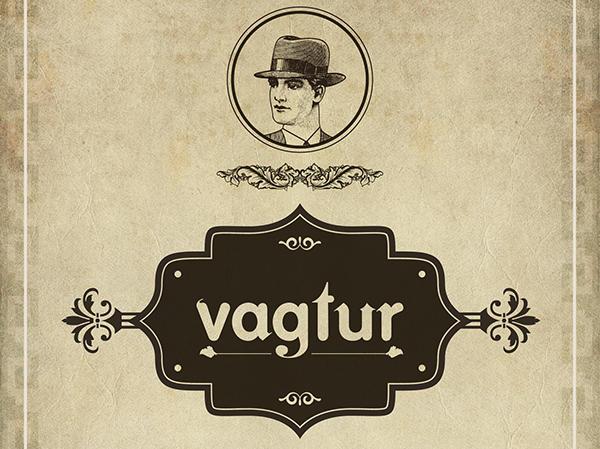 Vagtur fuente con diseño retro