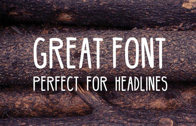 bellaboo tipografía gratis con diseño hipster