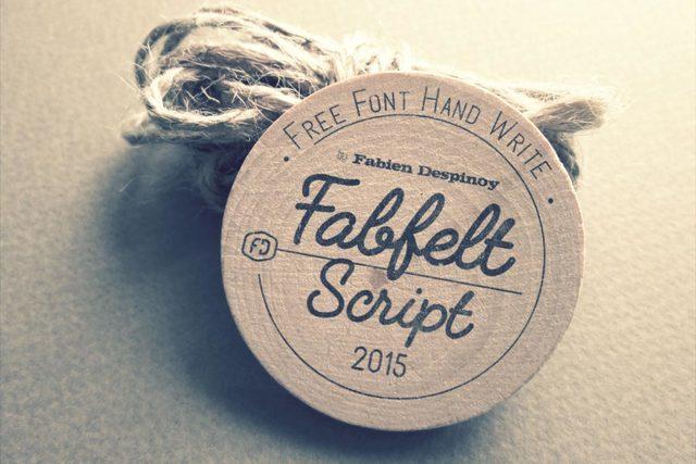 Fabfelt script bella fuente con diseño vintage