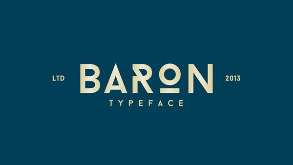 Baron tipografía libre con diseño futurista