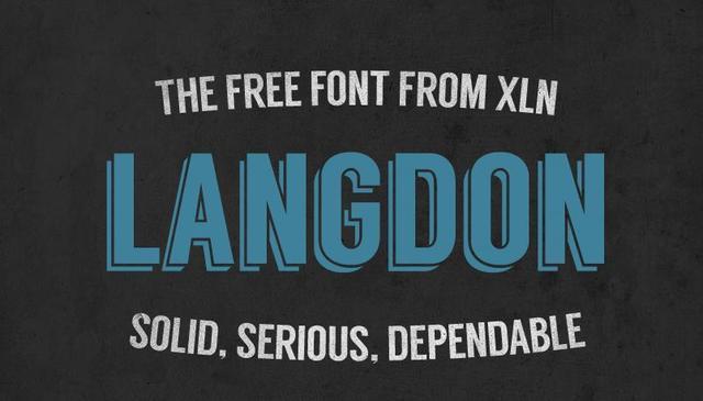 Langdon fuente libre con diseño industrial