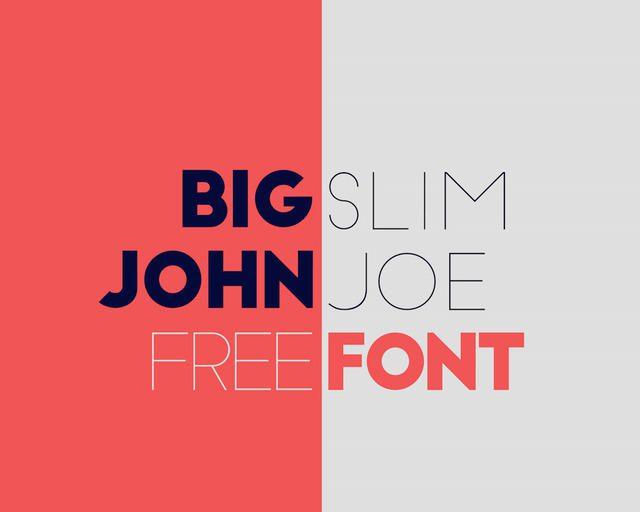 Big Slim fantastica tipografia con diseño moderno y geometrico