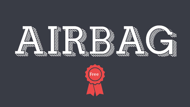Airbag moderna fuente gratis slab serif