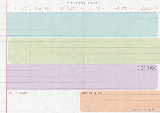 planificador de tareas para los peques