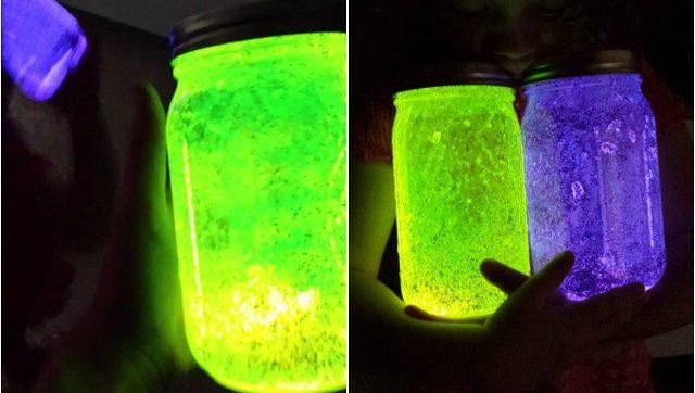 frascos fluorescentes para campamentos