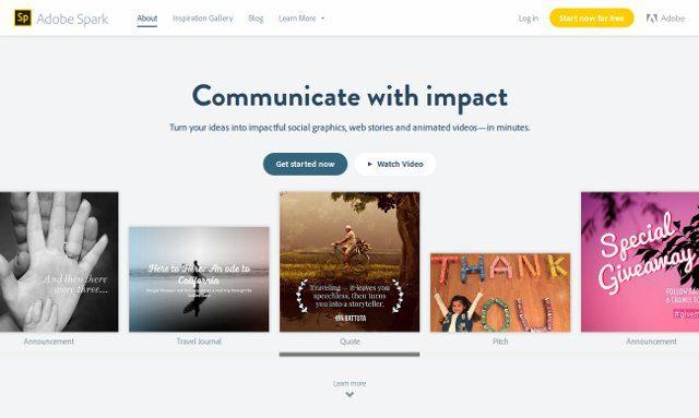 adobe spark crear contenido redes sociales