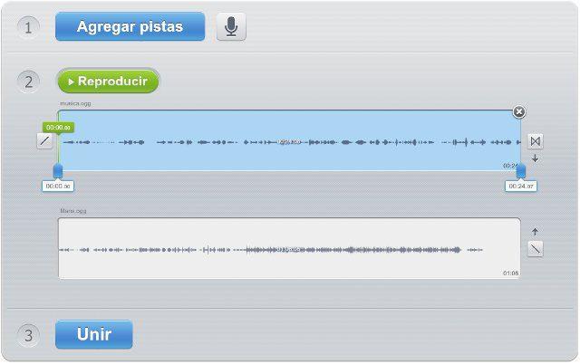 unir pistas de audio